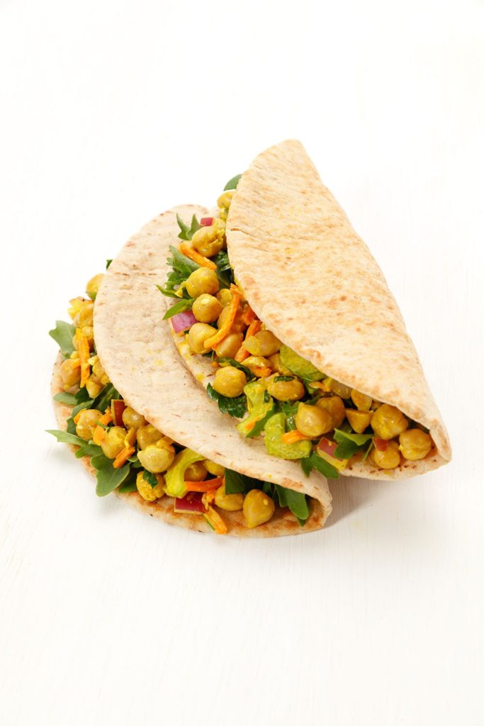 Curried Chickpea Pitas