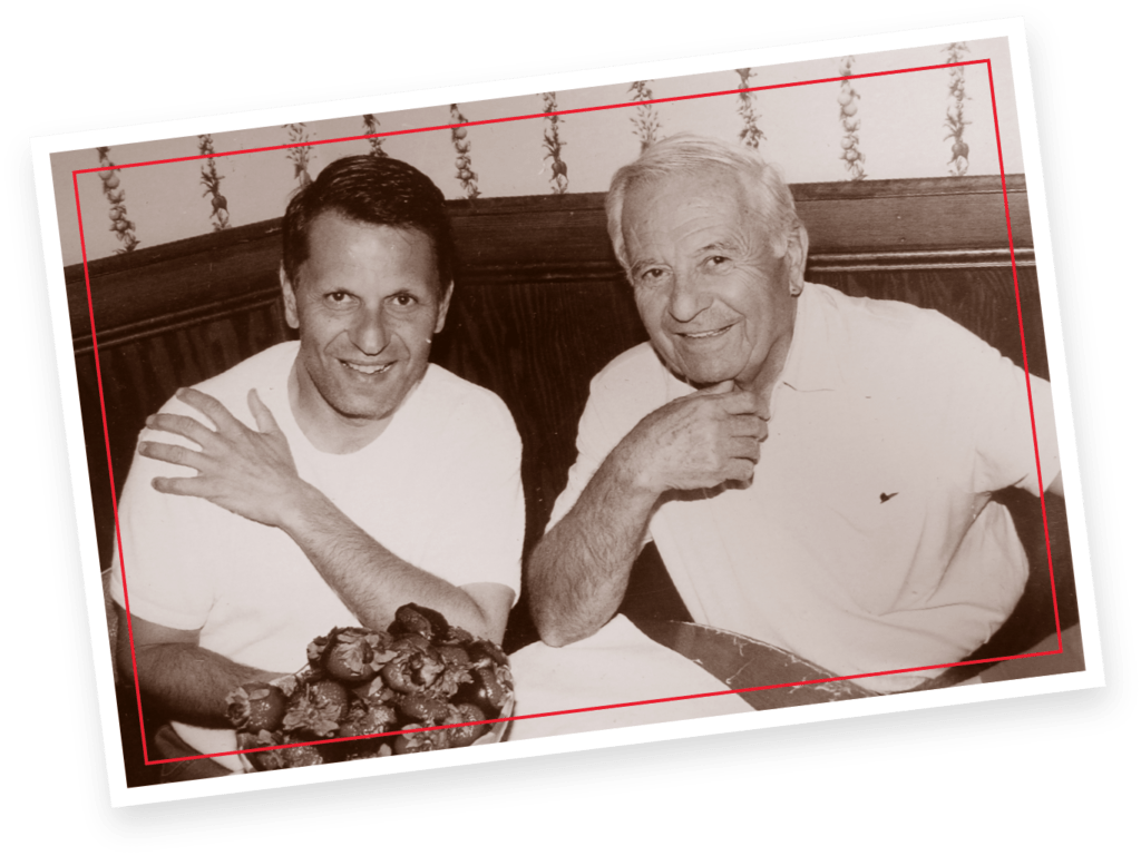 An old photo of Joseph and John Boghos.