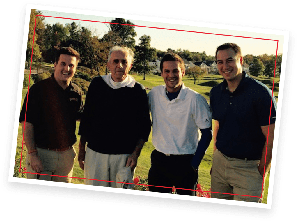 Group photo of Joseph Boghos, Joe Ganem, Stephen Boghos and Tom Conomacos.