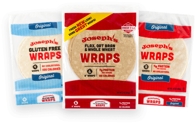 Group photo of Josephs's wraps.
